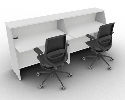 Offimat 1200 High Reception Desk White Rear View