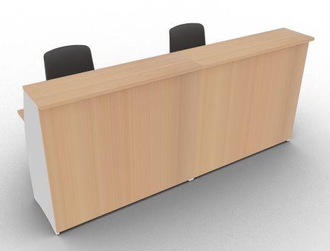 Offimat 1200 High Reception Desk Elm