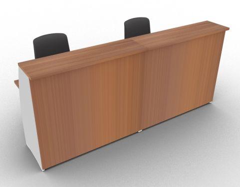 Offimat 2400 High Reception Desk Walnut