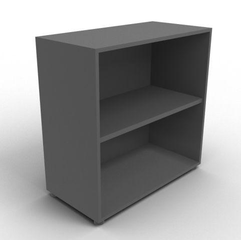 Quad Anthracite Open Shelf Cabinet