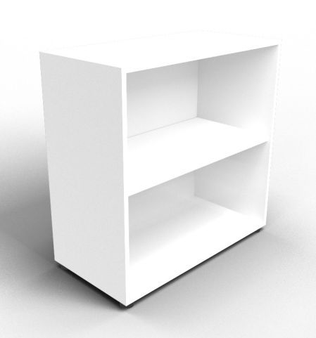 Quad White Open Shelf Cabinet