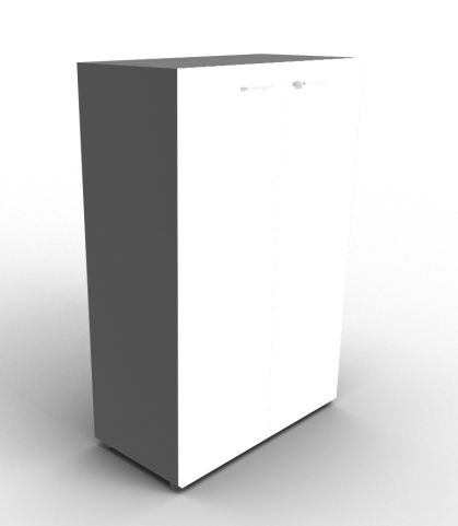 Quad 1310mm Anthracite And White Cabinet