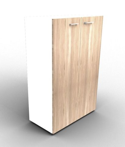 Quad 1310mm White And Elm Cabinet