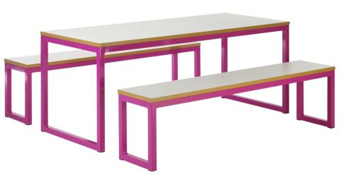 Mallow Bench Set With Coloured Frame