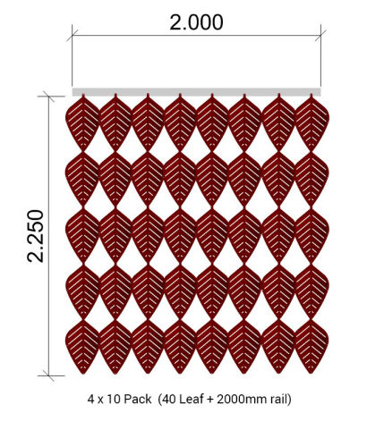 Airleaf 4 X 10 Pack + Rail