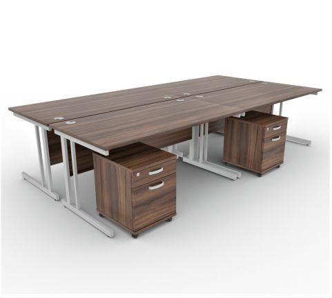 Revolution Renders Collection 4 Way Desk And Pedestals