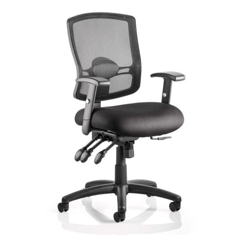 Height Adjustable Black Mesh Task Operators Chair With Arms