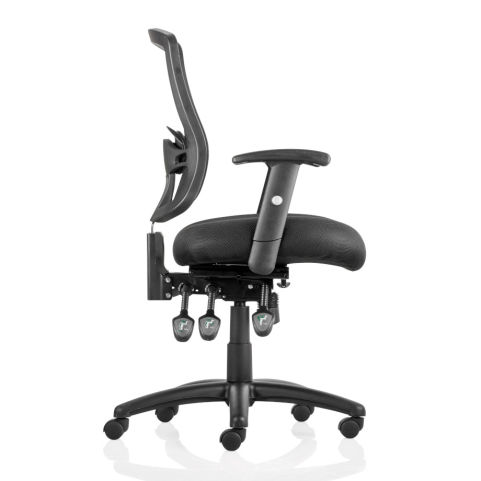 Sigma 3 Black Mesh Task Operators Chair With Arms - Side