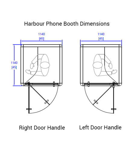 Harbour Phome Booth Dimensions
