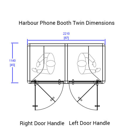 Harbour Phone Booth Twin Dimensions