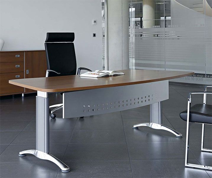 Central bow fronted desks office reality for Muebles oficina wks
