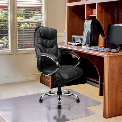 Banton Luxury Executive Leather Chairs Black Mood View