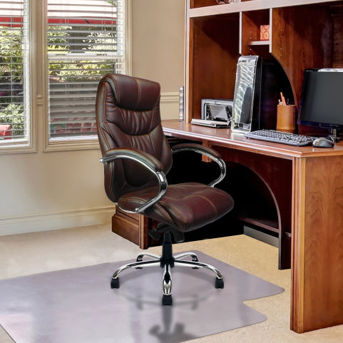 Banton Luxury Executive Leather Chairs Chocolate Brown Mood View