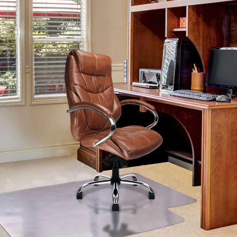Banton Luxury Executive Leather Chairs Tan Mood View