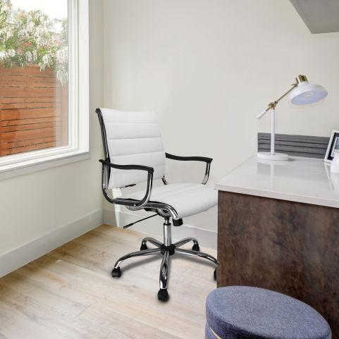 Tranton Designer Leather Seating White Mood View