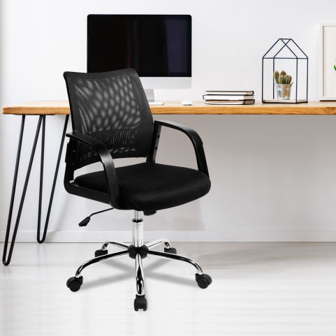 Stylisto Medium Back Mesh Chair Black Mood View