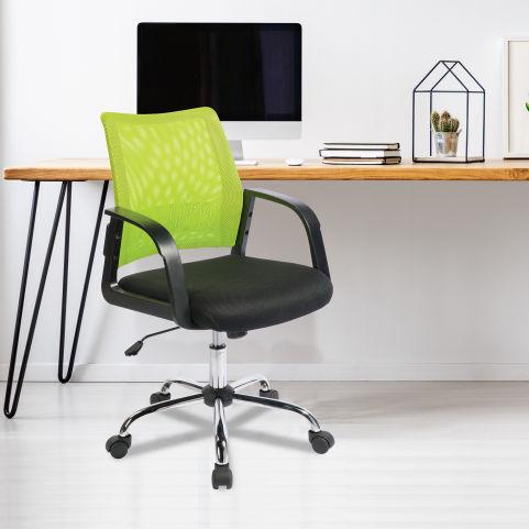 Stylisto Medium Back Mesh Chair Lime Mood View