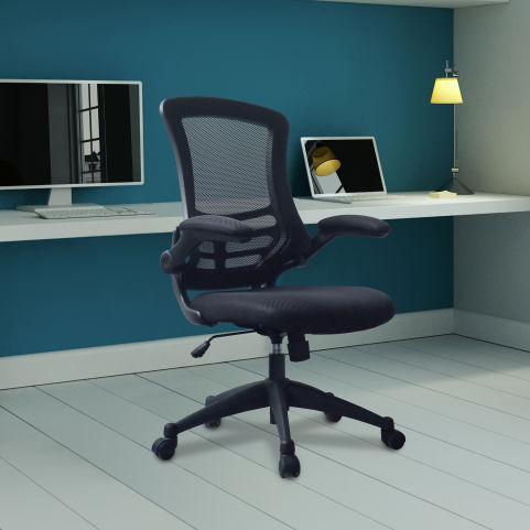 Corky Coloured Mesh Chairs Black Mood View