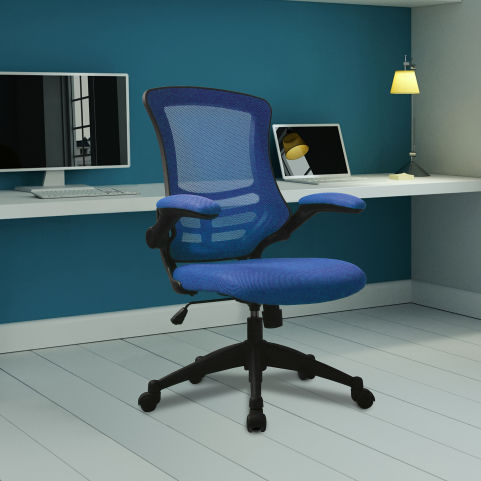 Corky Coloured Mesh Chairs Blue Mood View