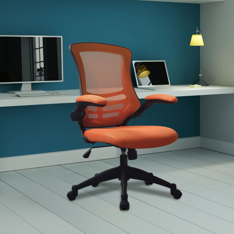 Corky Coloured Mesh Chairs Orange Mood View