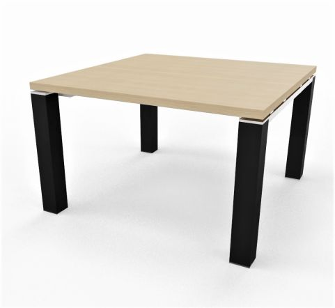 JET EVO SQUARE TABLE BLACK LEGS 38MM THICK TOP