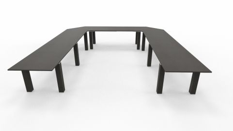 U Shaped Conference Table Stream Table Wenge
