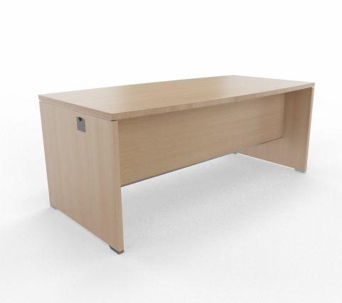 CABA Bow Curved Desk 1800mm Light Oak