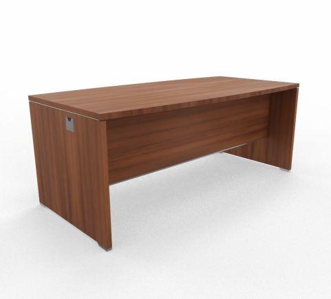 CABA Bow Curved Desk 1800mm Walnut
