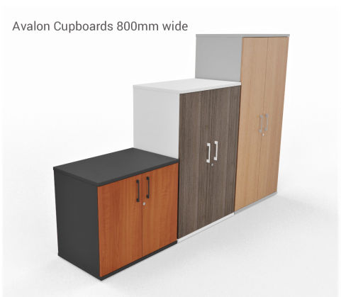 AVALON TWO TONE PRIME EXECUTIVE STORAGE UNIT CUPBOARDS With 800mm,
