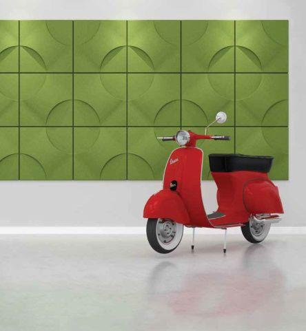 Torino Acoustic Wall Tile Green