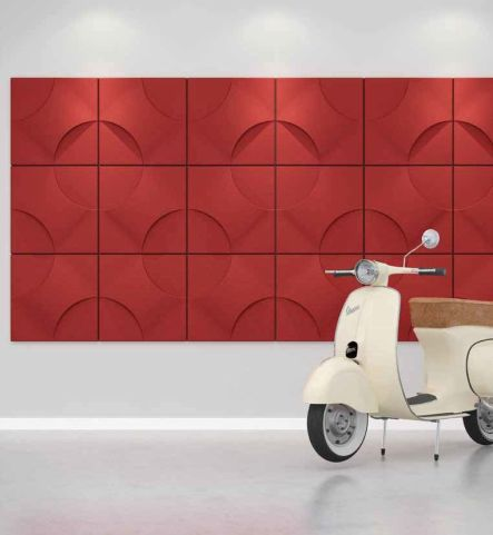 Torino Acoustic Wall Tile Red
