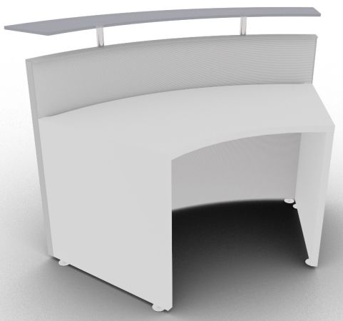 Xtrea Curved Reception Desk Rear View