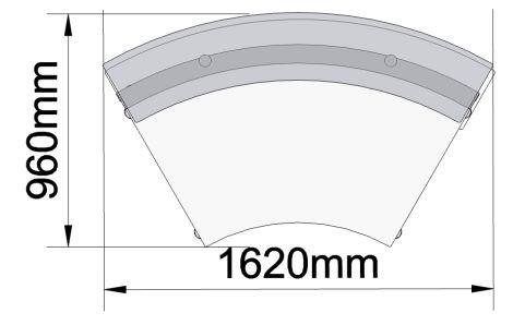 Xtrea Curved Reception Desk Dimensions
