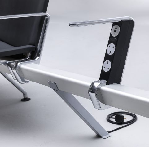 Mood Destination Beam Seating 2 X Power Modules And 2 X USB PORTS