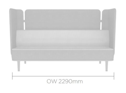 Mote Three Seater With Back And Side Screens
