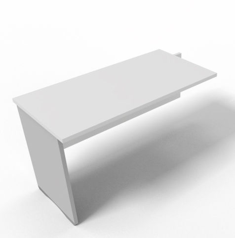 Offimat Desk Return White Side