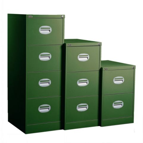 Kontrax Multi Coloured Filing Cabinet Band A Green