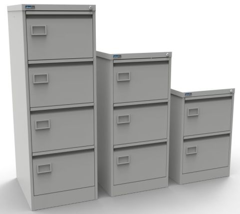 S Line Standard Colour Filing Cabinet Grey
