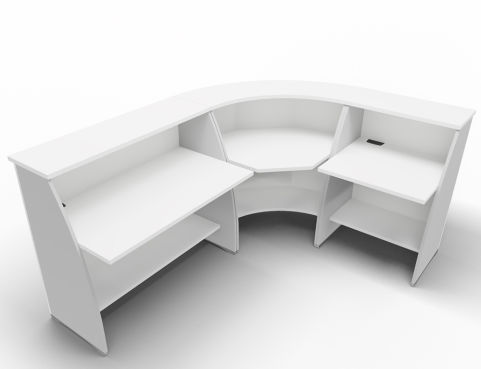 Offimat Curved Reception Desk White