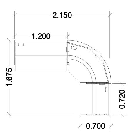 Offimat Curved Reception Desk Dimensions