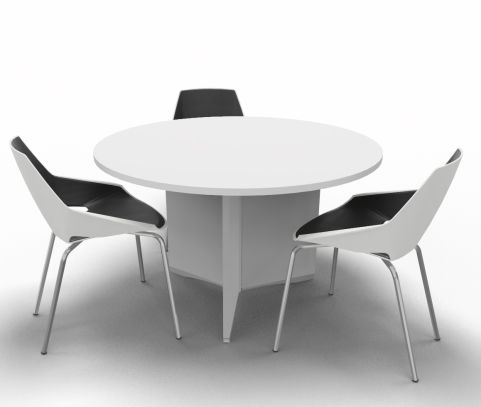 Offimat Round Table White Chairs