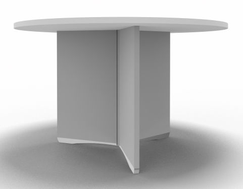 Offimat Round Table White Side