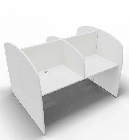 Offimat 120 Four Person Booth Block