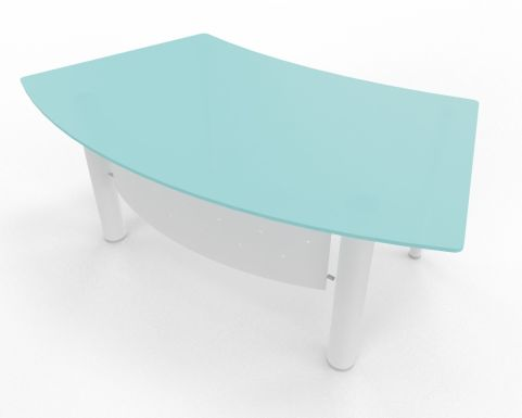 XT Next Bow Fronted Desk With Glass