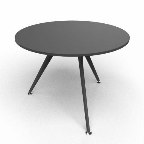 Arkitek Circular Executive Table In Black With Black Legs