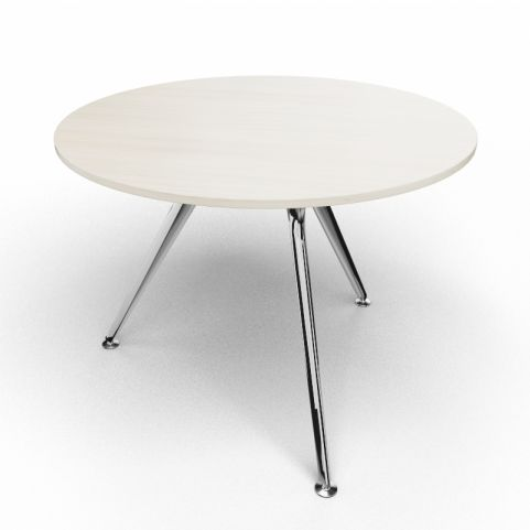 Arkitek Circular Executive Table In Lime Oak With Polished Legs