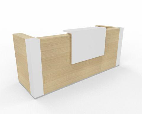 Tera Reeception Desk With Corner Posts