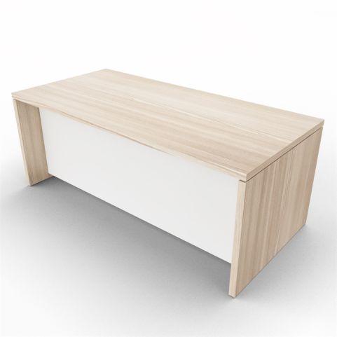Lithos Executive Rectangular Desk - Oak + White