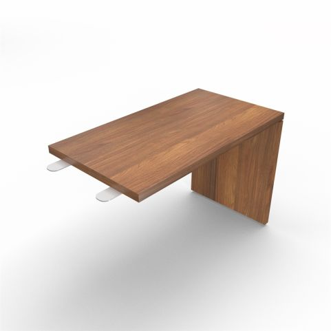 Lithos Desk Return Extension In Natural Walnut