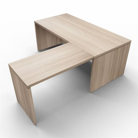 Lithos Desk With Return Extension In Oak - Shot 2